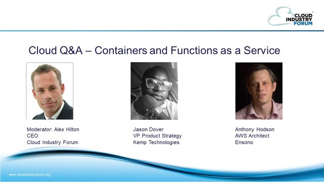 Containers and Functions as a Service