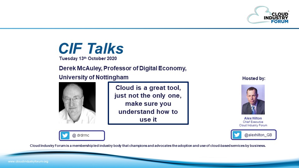 CIF Talks: Cloud Is a Great Tool