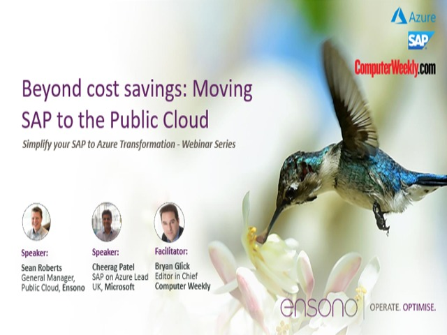 Moving SAP to the Public Cloud