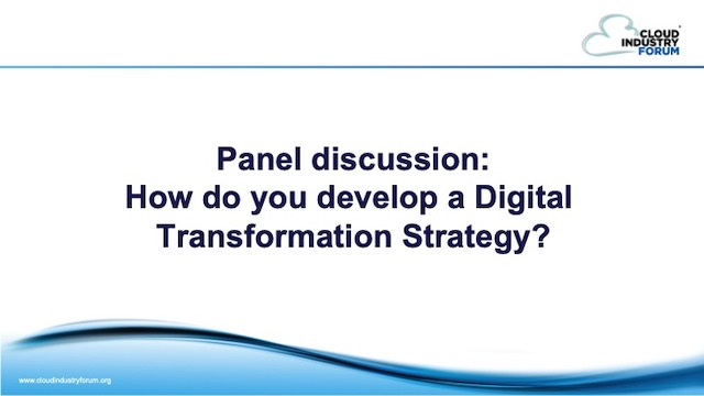 Expert Panel: How do you develop a digital transformation strategy?