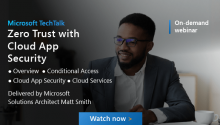 Microsoft Tech Talk - Zero Trust with Cloud App Security